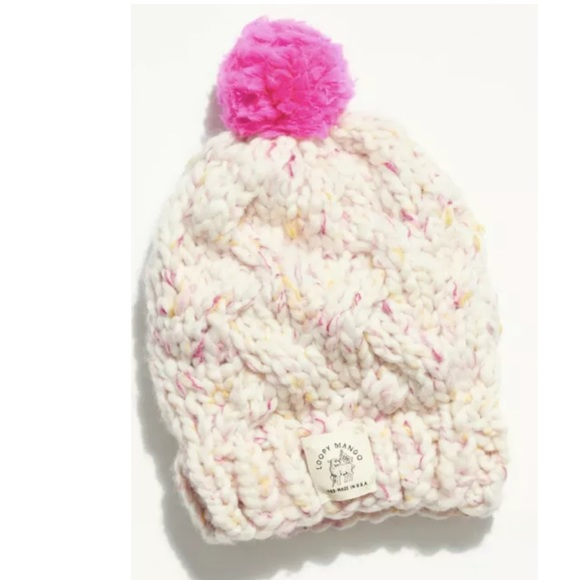 New Free People Loopy Mango Flecked Cable Beanie